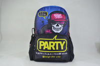 "New 17"" school backpacks for teenage boys cool backpack with zombie pattern,BBP118"
