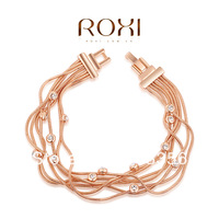 ROXI brand fashion Rose Gold plated Bracelets For Women,with clear Austrian Crystal,gift for women.fashion jewelry,2060007750