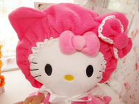 Free Shipping Superfine Fabric Hello Kitty Dry Hair Hat Cap Hair Drying Towel Bathing Shower Cap Quick-drying Hair Retail