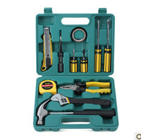 Free shipping, King 12 pcs Multi-functional household combination tool electrical tool kit hardware tools