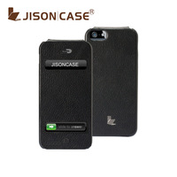 100%Handmade Case for iPhone 5 5g From Jisoncase Handmade Premium Leather Suction Cup Designe 1PCS Free Shipping Only For IOS6