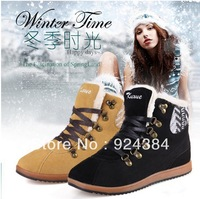 2013 new, ladies, natural leather, apartments, plus velvet warm, snow boots, increased female leather shoes, free shipping