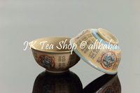 Qin Dynasty Style Ceramic Tea Cup, with Traditional Chinese Characters & Terra-cotta Horses-45ml