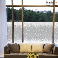 Magic fix film glass bathroom transparent window stickers sun film