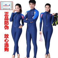 Anti-uv 2013 one piece long-sleeve sunscreen submersible service aureateness clothing submersible clothing incubation