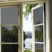 Glass insulation film transparent film window stickers sunscreen bathroom one-way dodechedron window stickers