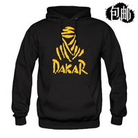 Dakar logo ,100% cotton thick autumn and winter fleece ,pullover sweatshirt,*Magic gift box*,Free shipping