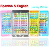 black pink Blue orange Mini  Spanish & English Language Kids Children Educational Toys Learning Machine  1pc