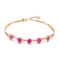 ZOCAI brand ZODIAC Red mond 1.40 ct ruby bracelet fine jewelry 8K white gold avaible S00037