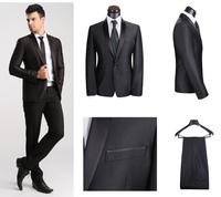2014 Hot Sale New Fashion Suit For Men (Jacket + Pants) Size XS-4XL Brand Men's Business Suit Slim Fit Wedding Dress Tuxedo