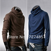 Fashion basic turtleneck shirt male all-match sanded long-sleeve T-shirt men's clothing