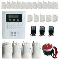 New product,99 wireless zones GSM +PSTN home alarm system with 4pir detector + 16 magnetic door sensor