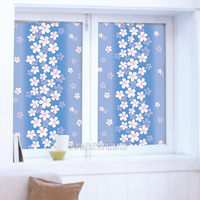 Free shipping w92*50cm  non adhesive Static Cling Stained Glass sun radiation heat insulation bathroom window film0004