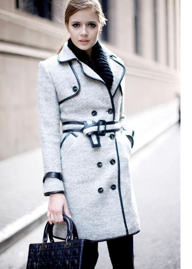 2013 New Fashion Women Cashmere Coats Jackets Ladies Autumn Winter ...
