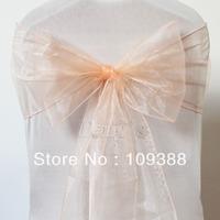 Peach Wedding Party Organza Sheer Chair Sashes
