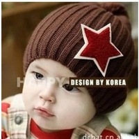 Boys gilrs Handmade Gray Twinkle Little Star Crochet Baby Hat -5 colors