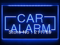 AC027 B Car Alarm Part Auto Shop LED Light Sign