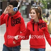 2013 long-sleeve lovers sweatshirt cardigan school wear autumn outerwear class service school uniform