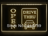 AC024 B OPEN Drive Thru Displays Motel LED Light Sign