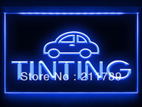 AC030 B Tinting Car Auto Parts Repairs LED Light Sign