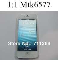 NEWEST!!! 1:1 I5 phone i5s phone  MTK6577 build in 8G/16G android 4.1 4.0 inch 960*540 QHD screen mobile phone