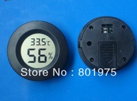 100pcs/lot portable small digital ld cigar hygrometer thermometer