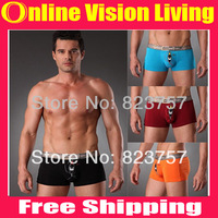 Modal men's flat feet panties man breathable comfortable underwear male boxer free shipping