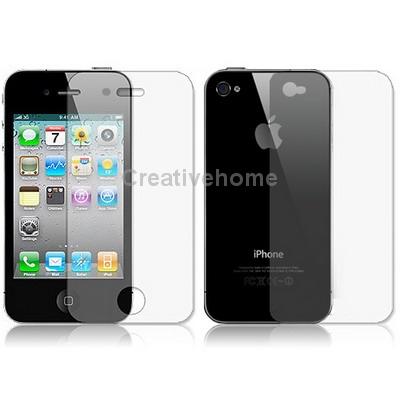 2 в 1 (Передний Экран Задняя Крышка) Протектор Экрана для iPhone 4/iPhone 4S iphone 4 в твери