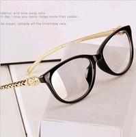 Superstar metal snake-shaped sunglasses Brand design women/men clear lens plain personalized nerd glasses/eyewear shipping