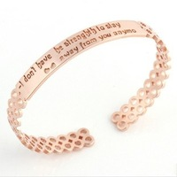 Christmas Unique Gift 925 Custom Name Bangle & Bracelet 18 Rose Gold Plated Sterling Silver Jewelry Free Shipping Epacket