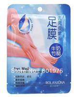 Rolanjona Crystal foot mask Exfoliating scrub mask Foot mask 200pcs=100pairs/lot