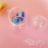 Free shipping transparent Christmas ball 5 cm 20pcs/lot lot clear plastic ball christmas decoration supplies wholesale