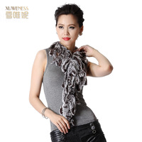 Women's fur scarf female fashion winter fashion muffler scarf rex rabbit hair fur scarf