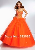 Free shipping Sweetheart after bind type Tonal Beaded Bodice on a Tulle Ball Gown  you fully deserve to enjoy it