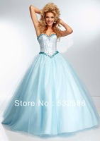 Free shipping Sweetheart after bind type All Over Beaded Bodice on a Tulle Ball Gown  you fully deserve to enjoy it