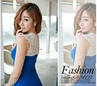 2013 spring new Women Korean lace dress