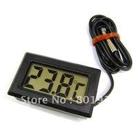 800pcs/lot digital refrigerator freezer reptile aquarium temperature panel meter small thermometer white/black color