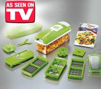 Nicer Dicer Plus Vegetables Fruits Dicer Food Slicer Cutter Containers Chopper Peelers Set of 12 kitchen tools 24sets/lot