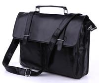 Fashion vintage classic genuine leather man bag portable briefcase laptop bag messenger bag 7100