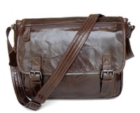 Casual street cowhide male shoulder bag messenger bag casual 6009 practical type