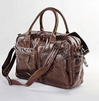 First layer of cowhide large luggage travel bag big handbag quality 7142c