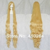 $wholesale_jewelry_wig$ free shipping Victory cosplay wig blonde wig high temperature wire curls 150cm