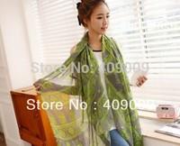 Free shipping fashion women flower cashew print winter newest scarf/lady head polyester shawls