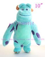 6pcs 10'' 25.5cm Monster Inc,Sullivan , lovely plush toys,Monsters University plush toy valentine's day gift,Free shipping