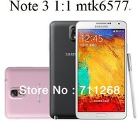 NEWEST!!! White/Black 1:1 Note 3 N9000 phone N9006 phone android 4.1 MTK6572 5.7 inch 960*540 screen Smart Phone