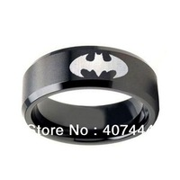 Free Shipping Wholesales Cheap Price Jewelry USA Hot Sales 8MM Tungsten Black EP Satin BATMAN Laser Engraved Wedding SIZE 6-13