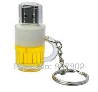 100% real capacity Hot Cartoon Cute Beer USB Drive Flash32GB USB 2.0 Flash Memory Stick Drive Thumb/Car/Pen Gift S28  AA