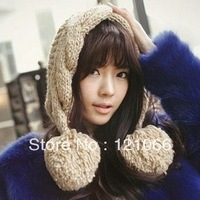 Free shipping 2013 New Hot Solid Female Balls Cute Wool Hat Pointy Hats Conical Caps Woolen Hat Knitting Winter Caps For Women