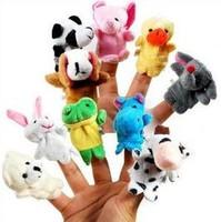 10Pcs New 2014 Cartoon Animal Finger Puppet,Finger Toys,Finger Doll,Baby Dolls,Baby Toys,Animal Doll Free Shipping