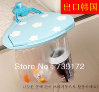 2013 new design multifunctional New Portable Foldable Simple Garbage Bag hanging Hook Type Trash Can Rack Waste Bins